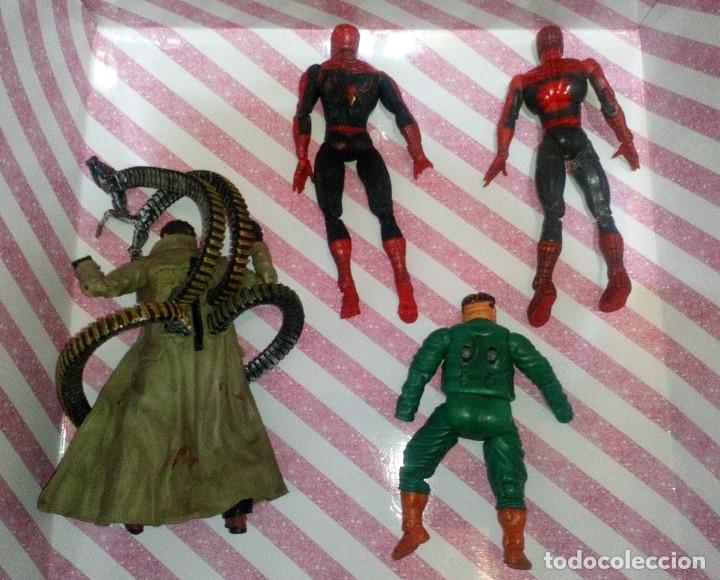 Figuras y Muñecos Marvel: LOTE DE 4 FIGURAS MARVEL CON DEFECTOS, 2 SPIDERMAN Y 2 DR. OCTOPUS, PARA PIEZAS O REPARAR - Foto 2 - 178032327