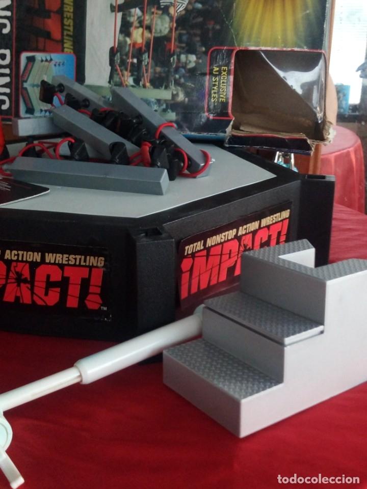 Figuras y Muñecos Marvel: TNA IMPACT ACTION WERSTLING 6 SIDED RING W/BONUS RED AJ STYLES FIGURA & X-DIVISION CHAMPIONSHIP BELT - Foto 10 - 120258987