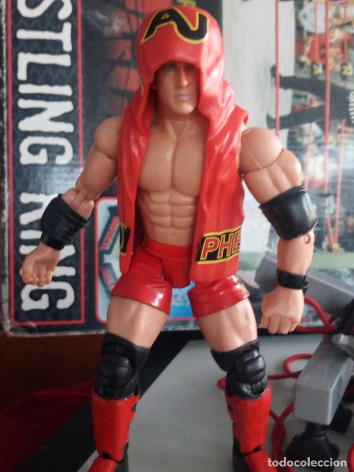 Figuras y Muñecos Marvel: TNA IMPACT ACTION WERSTLING 6 SIDED RING W/BONUS RED AJ STYLES FIGURA & X-DIVISION CHAMPIONSHIP BELT - Foto 11 - 120258987