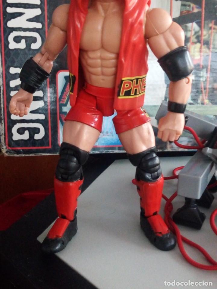 Figuras y Muñecos Marvel: TNA IMPACT ACTION WERSTLING 6 SIDED RING W/BONUS RED AJ STYLES FIGURA & X-DIVISION CHAMPIONSHIP BELT - Foto 13 - 120258987