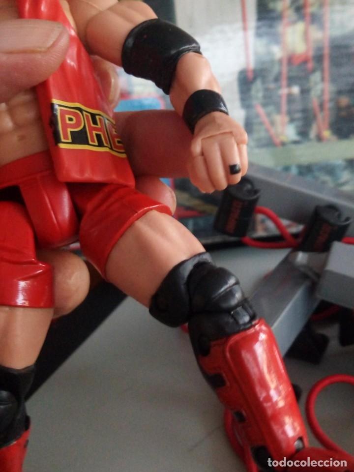 Figuras y Muñecos Marvel: TNA IMPACT ACTION WERSTLING 6 SIDED RING W/BONUS RED AJ STYLES FIGURA & X-DIVISION CHAMPIONSHIP BELT - Foto 14 - 120258987