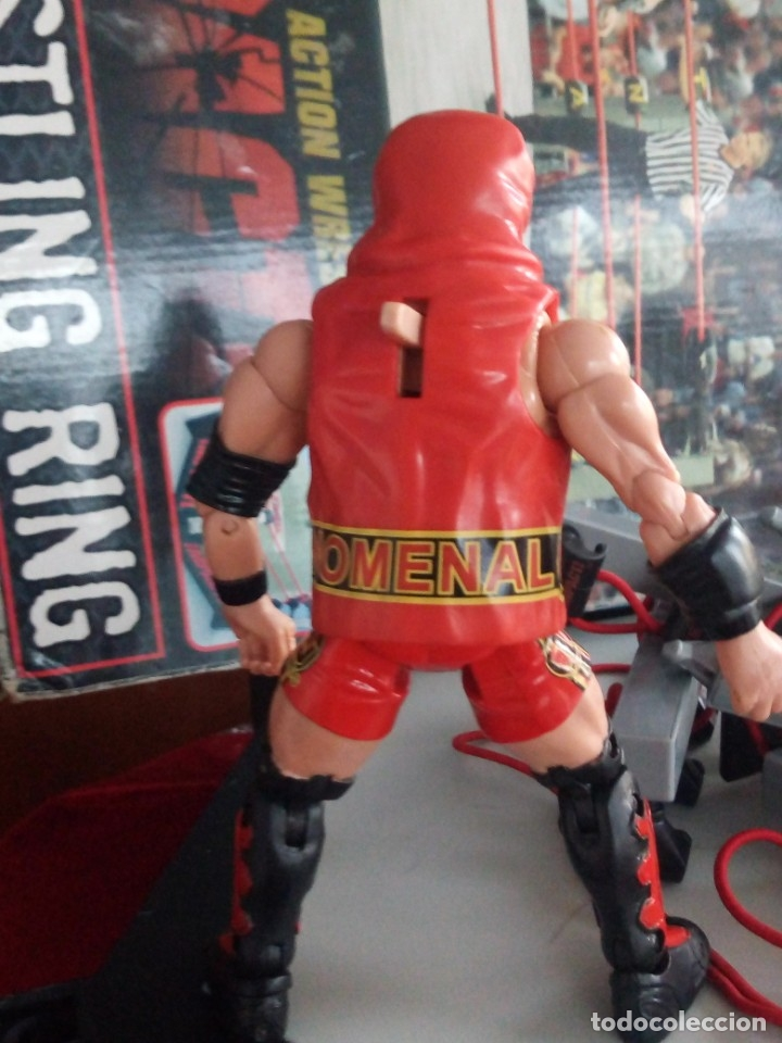 Figuras y Muñecos Marvel: TNA IMPACT ACTION WERSTLING 6 SIDED RING W/BONUS RED AJ STYLES FIGURA & X-DIVISION CHAMPIONSHIP BELT - Foto 15 - 120258987