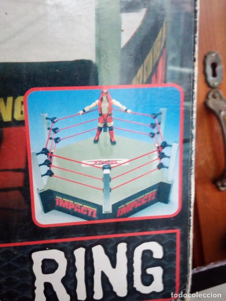 Figuras y Muñecos Marvel: TNA IMPACT ACTION WERSTLING 6 SIDED RING W/BONUS RED AJ STYLES FIGURA & X-DIVISION CHAMPIONSHIP BELT - Foto 18 - 120258987