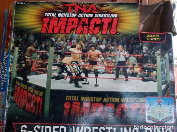 Figuras y Muñecos Marvel: TNA IMPACT ACTION WERSTLING 6 SIDED RING W/BONUS RED AJ STYLES FIGURA & X-DIVISION CHAMPIONSHIP BELT - Foto 20 - 120258987