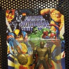 Figuras y Muñecos Marvel: FIGURA - MARVEL UNIVERSE SPIDER-MAN LAUNCHING WEB SHIELD TOY BIZ FIGURE - SPIDERMAN ARMADURA. Lote 178857633
