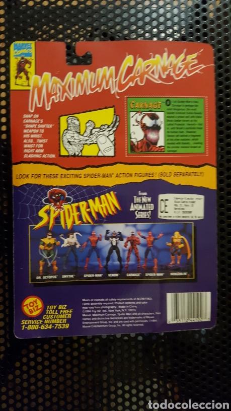 Figuras y Muñecos Marvel: Figura - Maximum carnage action figure - Toy biz - con pin exclusivo - De 1994 - Foto 2 - 178862113
