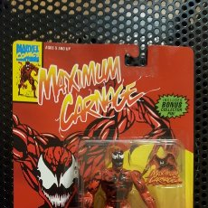 Figuras y Muñecos Marvel: FIGURA - MAXIMUM CARNAGE ACTION FIGURE - TOY BIZ - CON PIN EXCLUSIVO - DE 1994. Lote 178862113