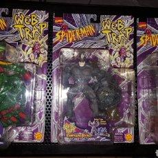 Figuras y Muñecos Marvel: LOTE FIGURAS - SPIDER-MAN - SPIDERMAN - WEB TRAP - TOY BIZ - MARVEL - BLISTERS CERRADOS - 1997 -. Lote 178893498