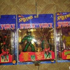 Figuras y Muñecos Marvel: LOTE FIGURAS - SPIDER-MAN - SPIDERMAN - SPIDER FORCE - TOY BIZ - MARVEL - BLISTERS CERRADOS. Lote 178895436