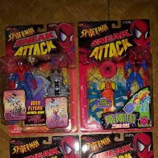 Figuras y Muñecos Marvel: LOTE FIGURAS - SPIDER-MAN - SPIDERMAN - SNEAK ATTACK - TOY BIZ - MARVEL - BLISTERS CERRADOS. Lote 178901663