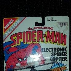 Figuras y Muñecos Marvel: FIGURA - HELICOPTERO SPIDER-MAN - SPIDERMAN - 1990 AMAZING SPIDER-MAN ELECTRONIC SPIDER COPTER. Lote 178961738