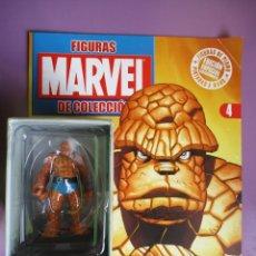 Figuras y Muñecos Marvel: FIGURAS DE PLOMO MARVEL DE COLECCION LA COSA , ALTAYA CON CAJA Y CON REVISTA. Lote 180133680