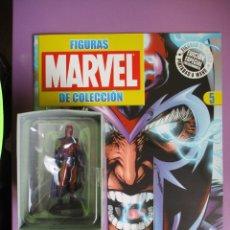 Figuras y Muñecos Marvel: FIGURAS DE PLOMO MARVEL DE COLECCION MAGNETO , ALTAYA CON CAJA Y CON REVISTA. Lote 180133896