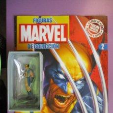 Figuras y Muñecos Marvel: FIGURAS DE PLOMO MARVEL DE COLECCION LOBEZNO , ALTAYA CON CAJA Y CON REVISTA. Lote 180134382