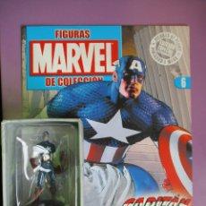 Figuras y Muñecos Marvel: FIGURAS DE PLOMO MARVEL DE COLECCION CAPITAN AMERICA , ALTAYA CON CAJA Y CON REVISTA. Lote 180134840