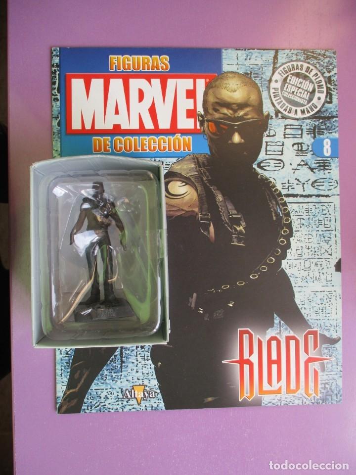 FIGURAS DE PLOMO MARVEL DE COLECCION BLADE , ALTAYA CON CAJA Y CON REVISTA (Juguetes - Figuras de Acción - Marvel)