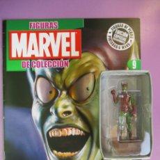 Figuras y Muñecos Marvel: FIGURAS DE PLOMO MARVEL DE COLECCION DUENDE VERDE , ALTAYA CON CAJA Y CON REVISTA. Lote 180135650