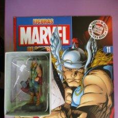 Figuras y Muñecos Marvel: FIGURAS DE PLOMO MARVEL DE COLECCION THOR , ALTAYA CON CAJA Y CON REVISTA. Lote 180135868