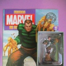 Figuras y Muñecos Marvel: FIGURAS DE PLOMO MARVEL DE COLECCIÓN HOMBRE DE ARENA , ALTAYA CON CAJA Y CON REVISTA. Lote 180136712