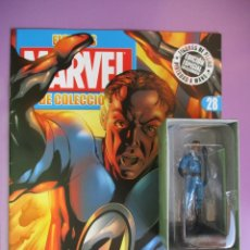 Figuras y Muñecos Marvel: FIGURAS DE PLOMO MARVEL DE COLECCIÓN MR. FANTASTICO , ALTAYA CON CAJA Y CON REVISTA. Lote 180136946