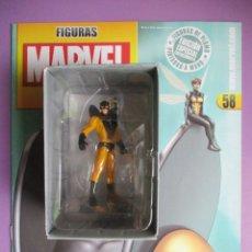 Figuras y Muñecos Marvel: FIGURAS DE PLOMO MARVEL DE COLECCIÓN CHAQUETA AMARILLA Y LA AVISPA , ALTAYA CON CAJA Y CON REVISTA. Lote 180137390