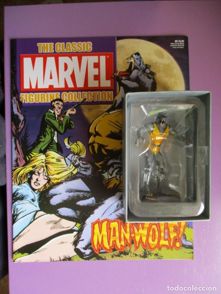 MARVEL FIGURINE COLLECTION MAN-WOLF, FIGURA DE PLOMO HOMBRE LOBO, CON CAJA Y CON REVISTA (Juguetes - Figuras de Acción - Marvel)