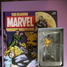 Figuras y Muñecos Marvel: MARVEL FIGURINE COLLECTION MAN-WOLF, FIGURA DE PLOMO HOMBRE LOBO, CON CAJA Y CON REVISTA. Lote 180139267
