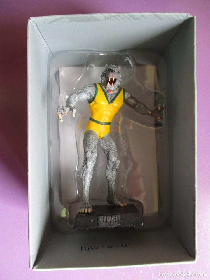 Figuras y Muñecos Marvel: MARVEL FIGURINE COLLECTION MAN-WOLF, FIGURA DE PLOMO HOMBRE LOBO, CON CAJA Y CON REVISTA - Foto 2 - 180139267