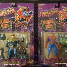 Figuras y Muñecos Marvel: LOTE FIGURAS ARTICULADAS SPIDER-MAN - TECHNO WARS - SPIDERMAN - TOY BIZ - TOYBIZ - EN BLISTER -. Lote 180474157