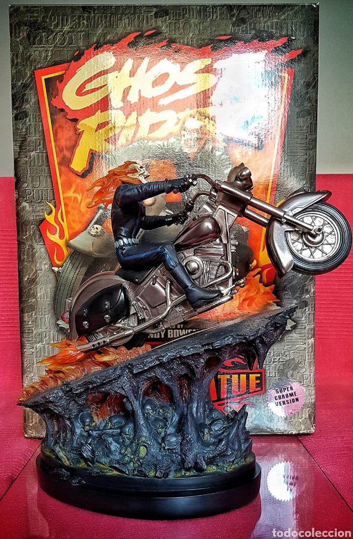 Figuras y Muñecos Marvel: Estatua Marvel de Ghost Rider por Randy Bowen Designs. Variante cromada. - Foto 3 - 181338865