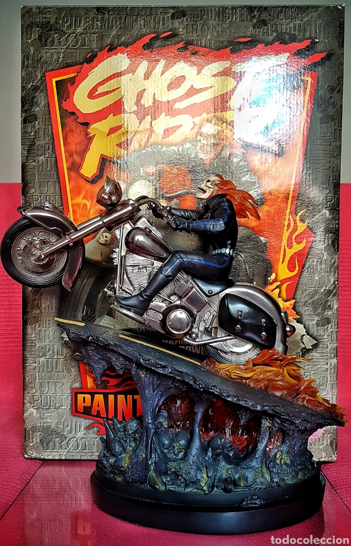 Figuras y Muñecos Marvel: Estatua Marvel de Ghost Rider por Randy Bowen Designs. Variante cromada. - Foto 4 - 181338865