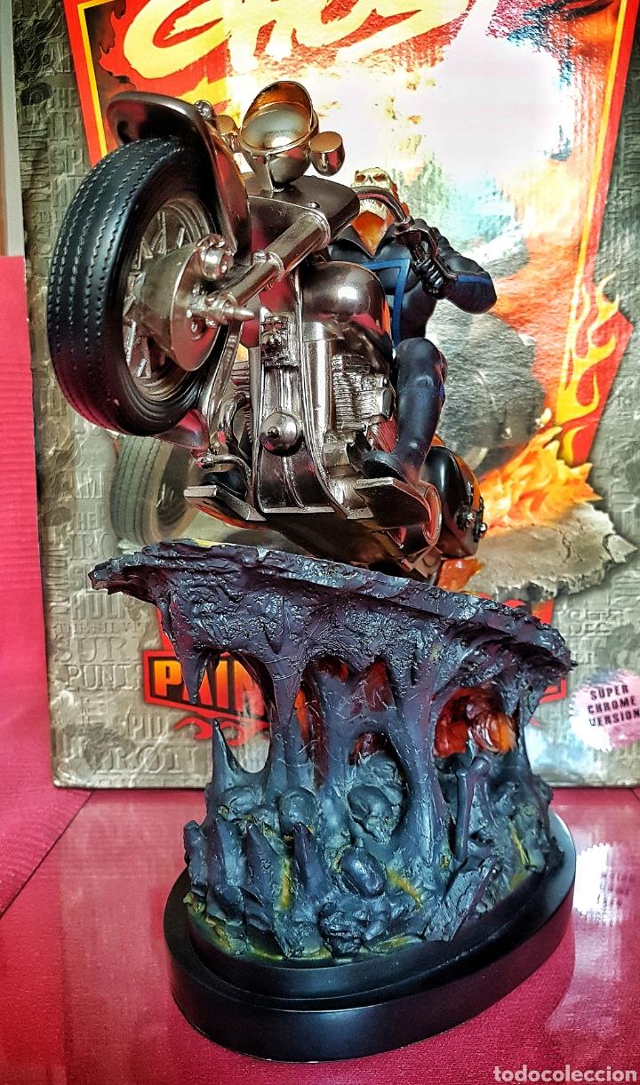 Figuras y Muñecos Marvel: Estatua Marvel de Ghost Rider por Randy Bowen Designs. Variante cromada. - Foto 5 - 181338865