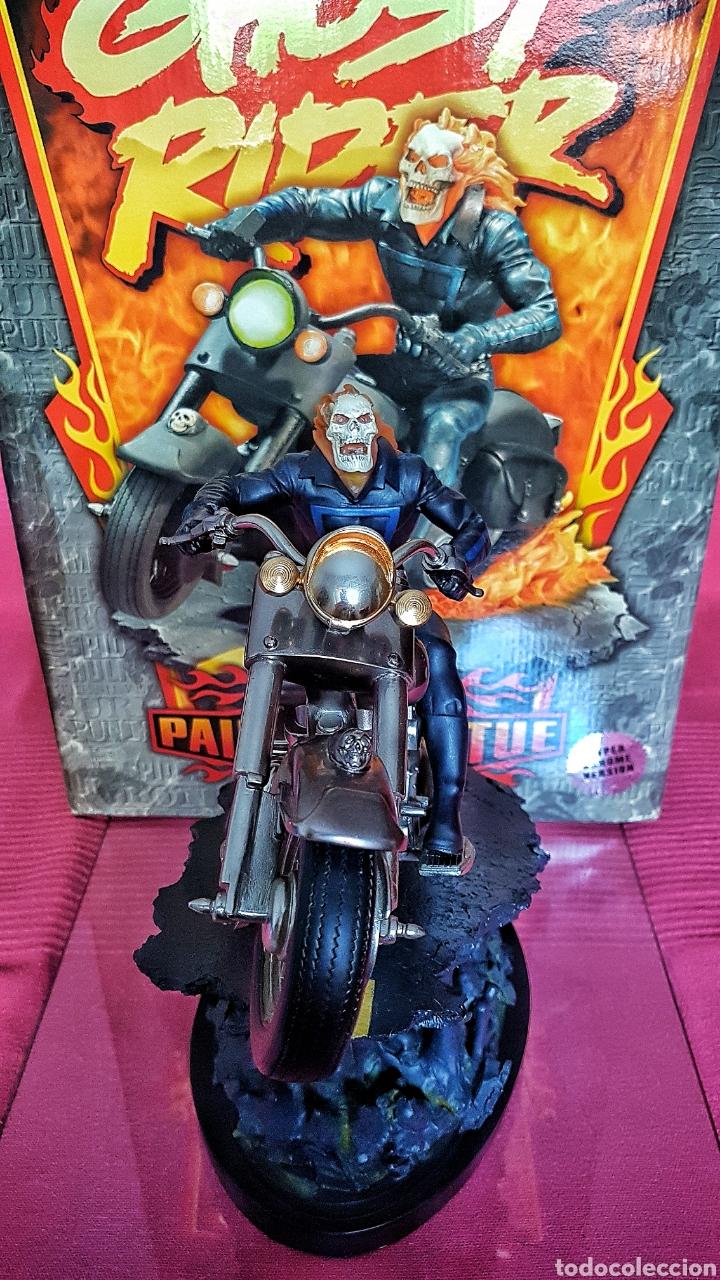 Figuras y Muñecos Marvel: Estatua Marvel de Ghost Rider por Randy Bowen Designs. Variante cromada. - Foto 6 - 181338865