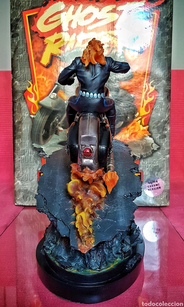 Figuras y Muñecos Marvel: Estatua Marvel de Ghost Rider por Randy Bowen Designs. Variante cromada. - Foto 7 - 181338865