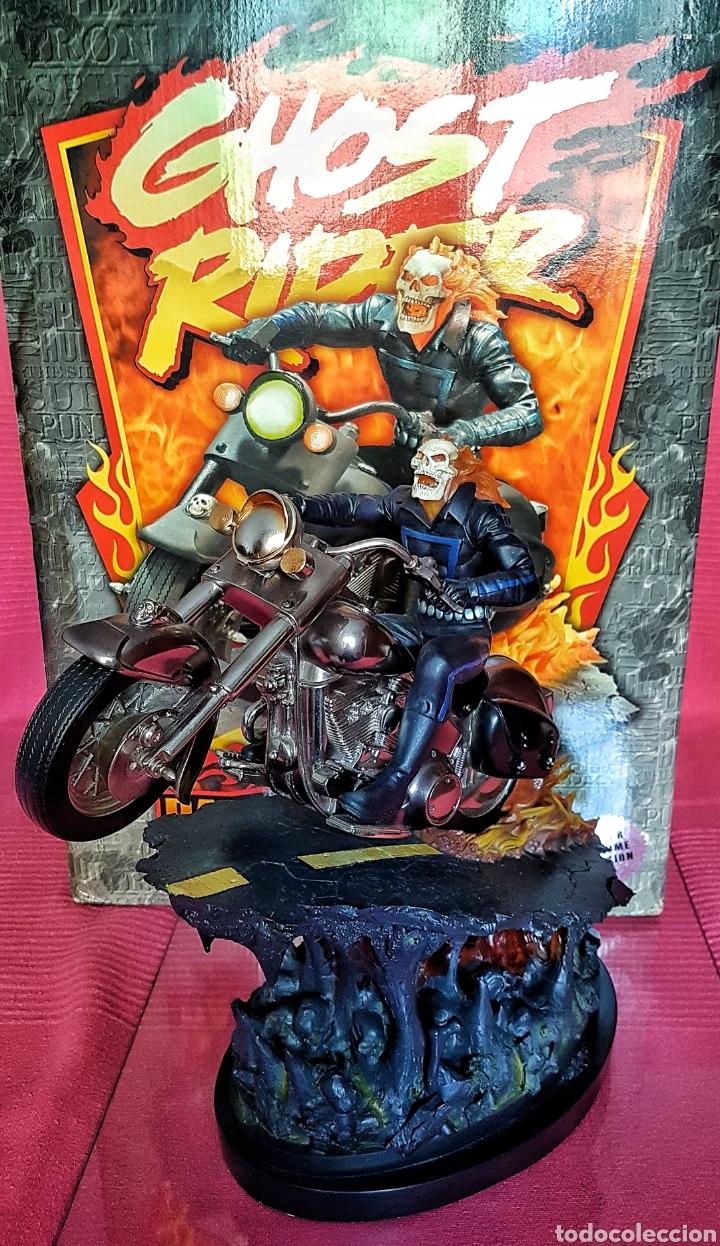 Figuras y Muñecos Marvel: Estatua Marvel de Ghost Rider por Randy Bowen Designs. Variante cromada. - Foto 2 - 181338865