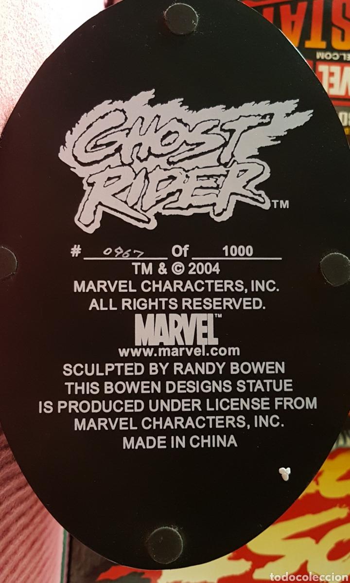 Figuras y Muñecos Marvel: Estatua Marvel de Ghost Rider por Randy Bowen Designs. Variante cromada. - Foto 9 - 181338865
