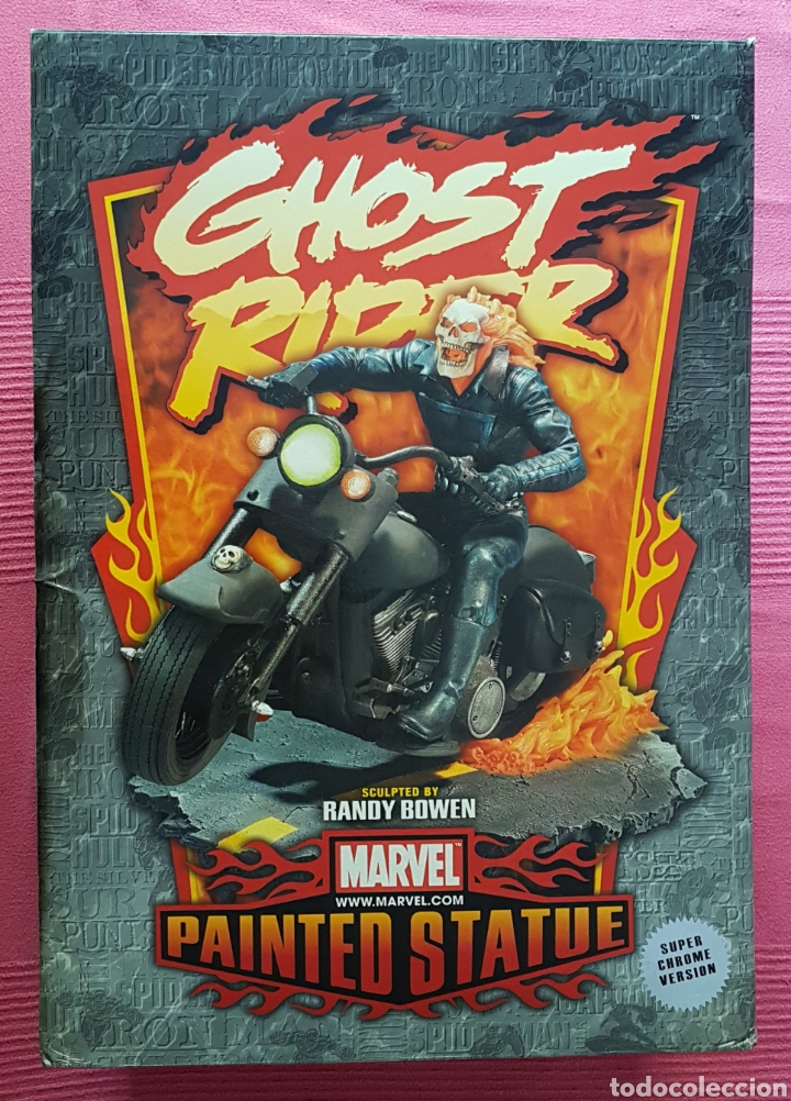Figuras y Muñecos Marvel: Estatua Marvel de Ghost Rider por Randy Bowen Designs. Variante cromada. - Foto 10 - 181338865