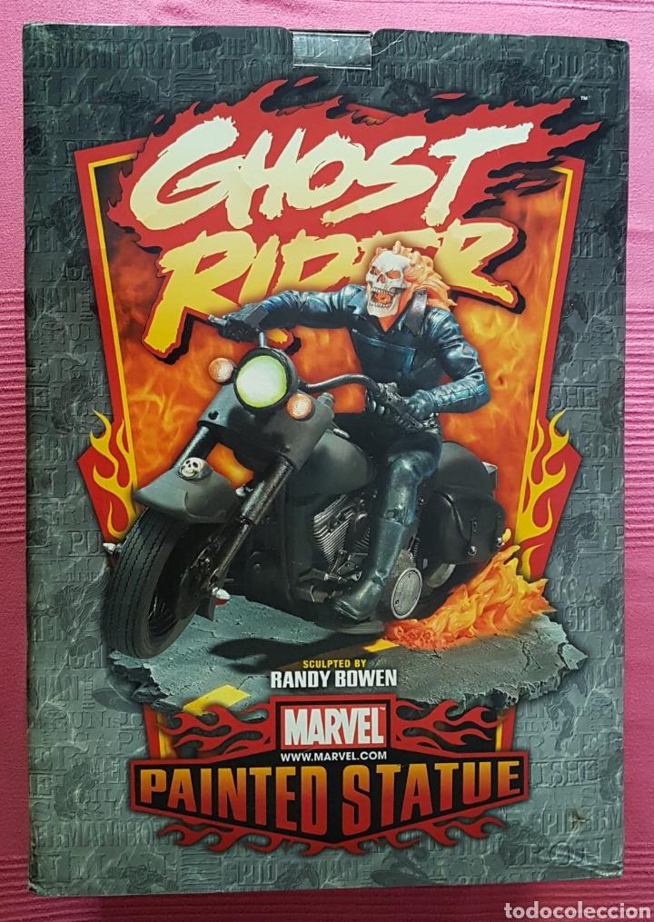 Figuras y Muñecos Marvel: Estatua Marvel de Ghost Rider por Randy Bowen Designs. Variante cromada. - Foto 11 - 181338865