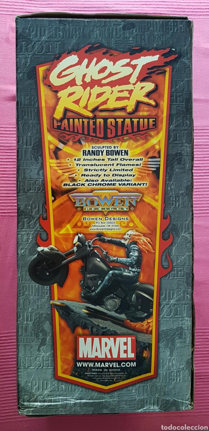 Figuras y Muñecos Marvel: Estatua Marvel de Ghost Rider por Randy Bowen Designs. Variante cromada. - Foto 12 - 181338865