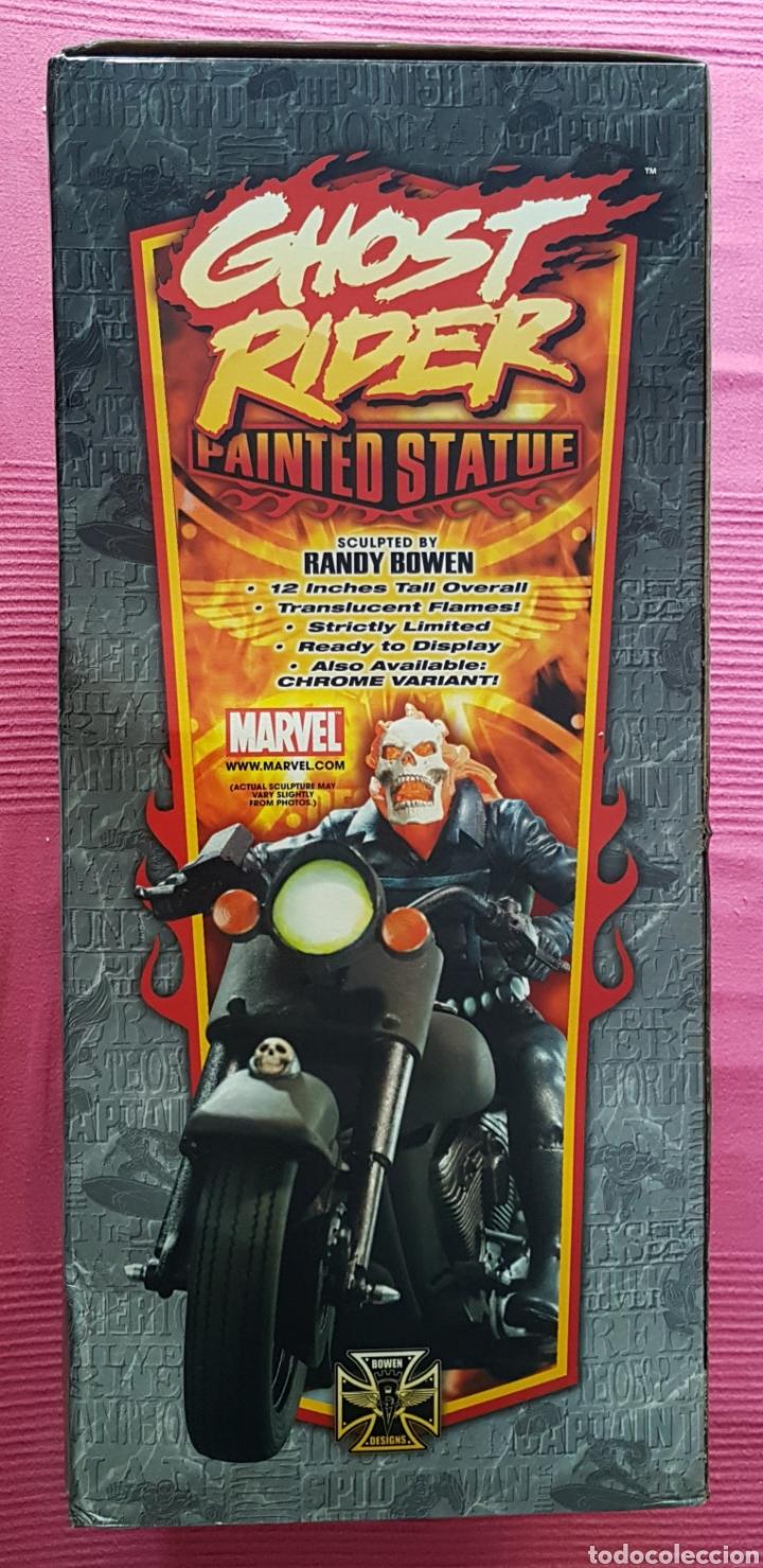 Figuras y Muñecos Marvel: Estatua Marvel de Ghost Rider por Randy Bowen Designs. Variante cromada. - Foto 13 - 181338865