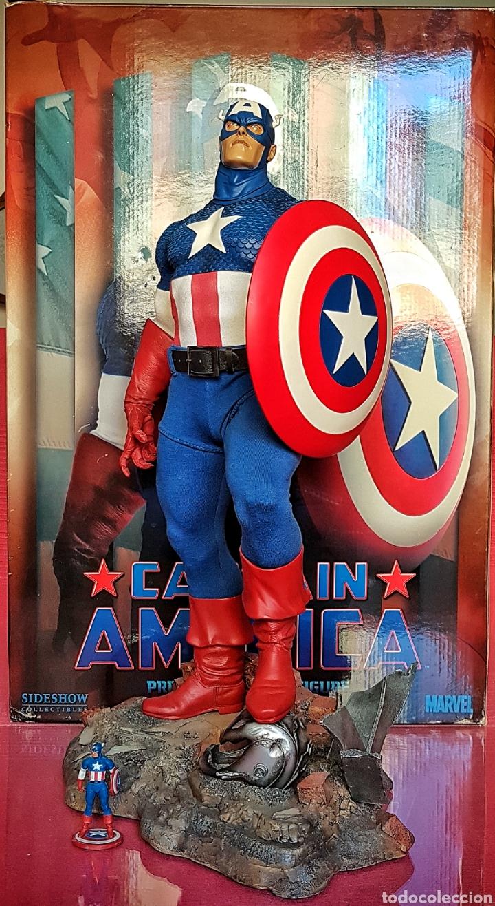 Figuras y Muñecos Marvel: Estatua Marvel del Capitan America Premium Format Figure sideshow. - Foto 2 - 181400146