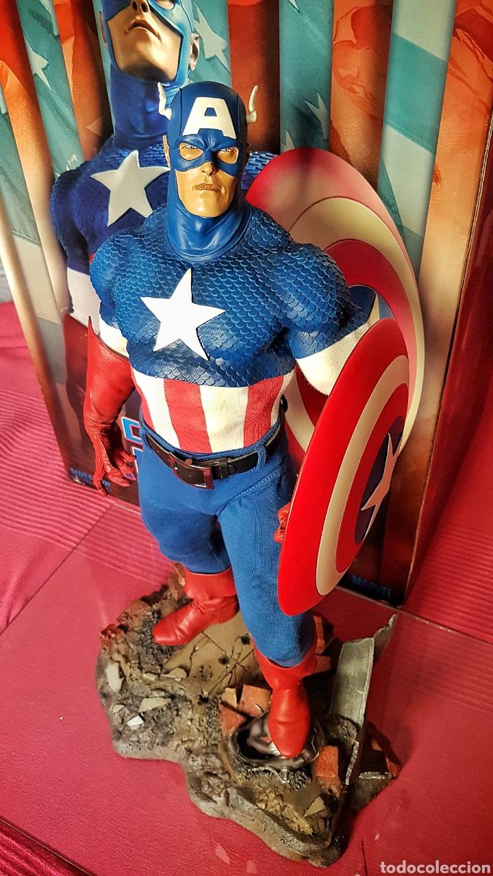 Figuras y Muñecos Marvel: Estatua Marvel del Capitan America Premium Format Figure sideshow. - Foto 3 - 181400146