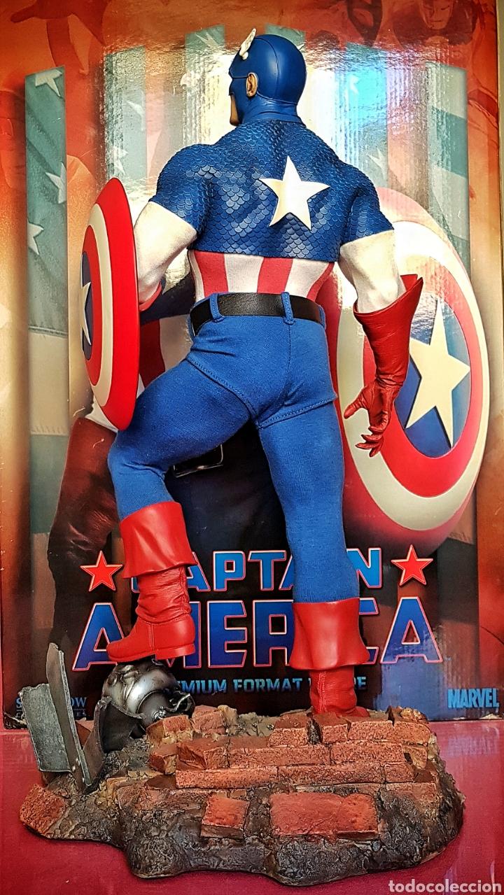 Figuras y Muñecos Marvel: Estatua Marvel del Capitan America Premium Format Figure sideshow. - Foto 4 - 181400146