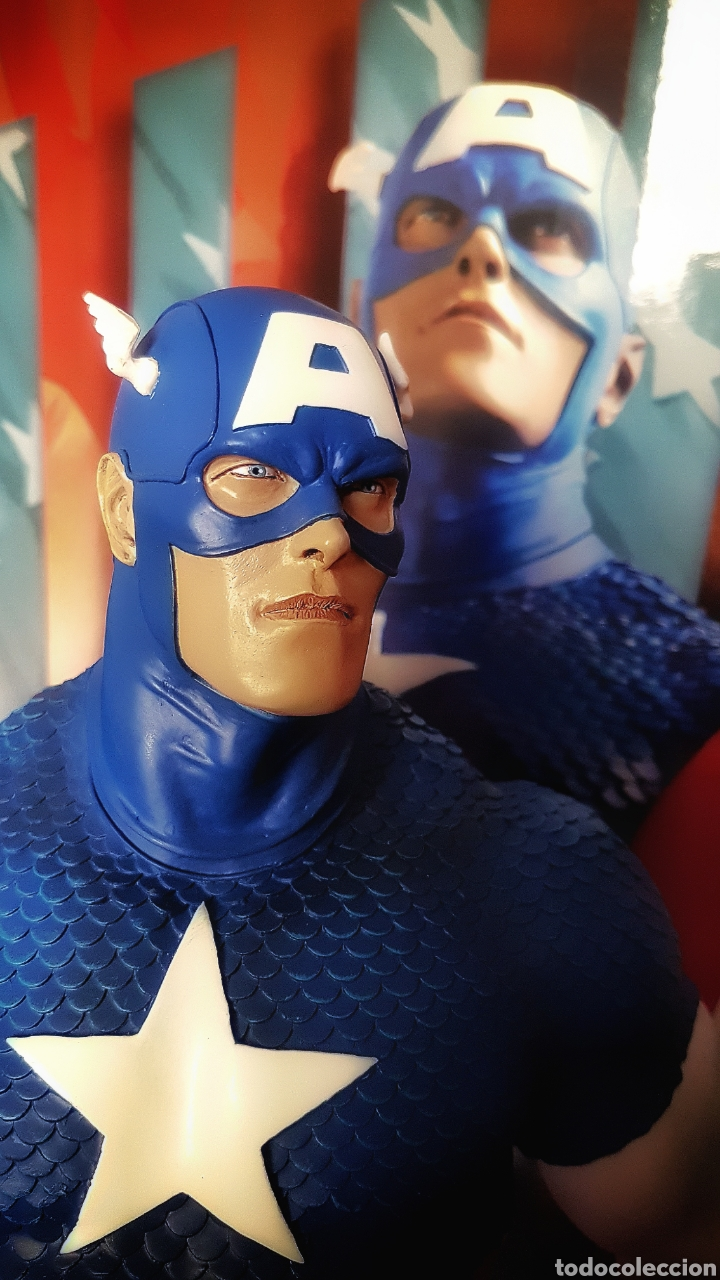 Figuras y Muñecos Marvel: Estatua Marvel del Capitan America Premium Format Figure sideshow. - Foto 5 - 181400146