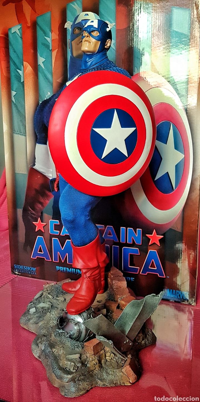 Figuras y Muñecos Marvel: Estatua Marvel del Capitan America Premium Format Figure sideshow. - Foto 6 - 181400146