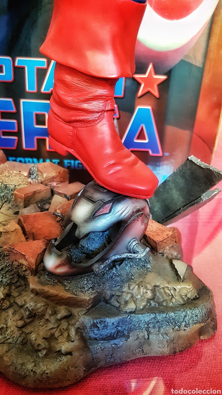 Figuras y Muñecos Marvel: Estatua Marvel del Capitan America Premium Format Figure sideshow. - Foto 8 - 181400146