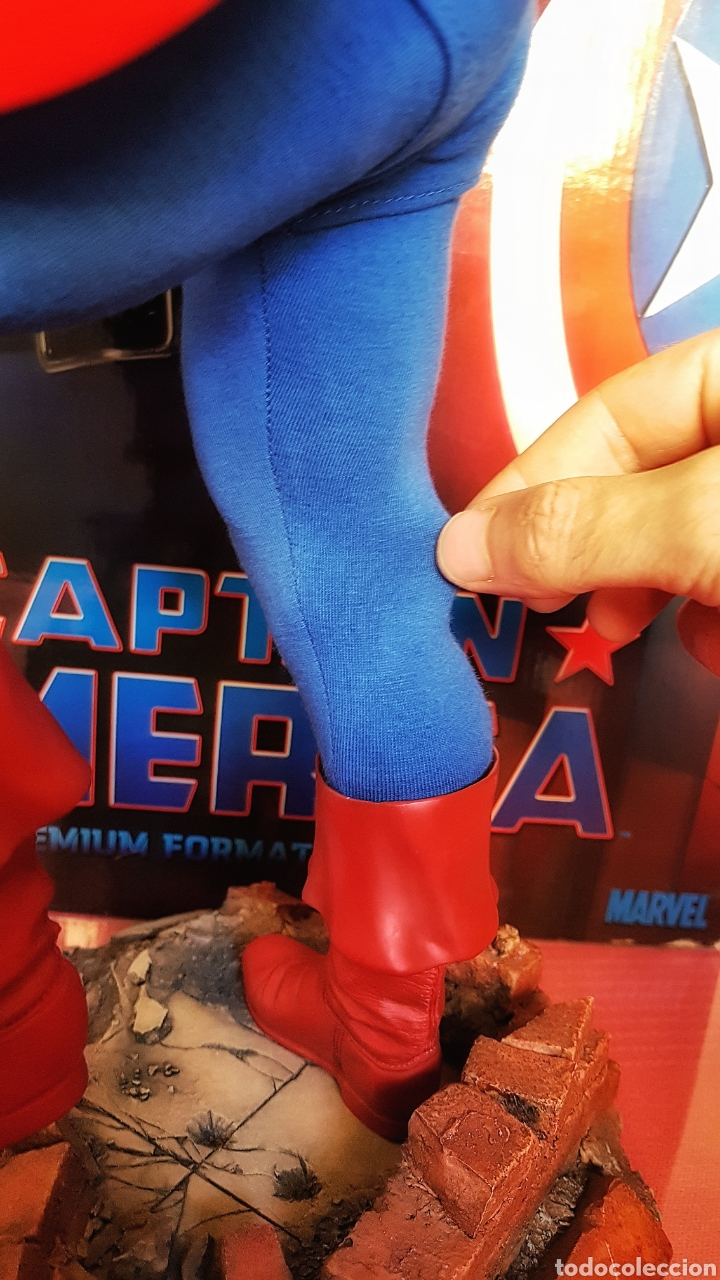 Figuras y Muñecos Marvel: Estatua Marvel del Capitan America Premium Format Figure sideshow. - Foto 10 - 181400146