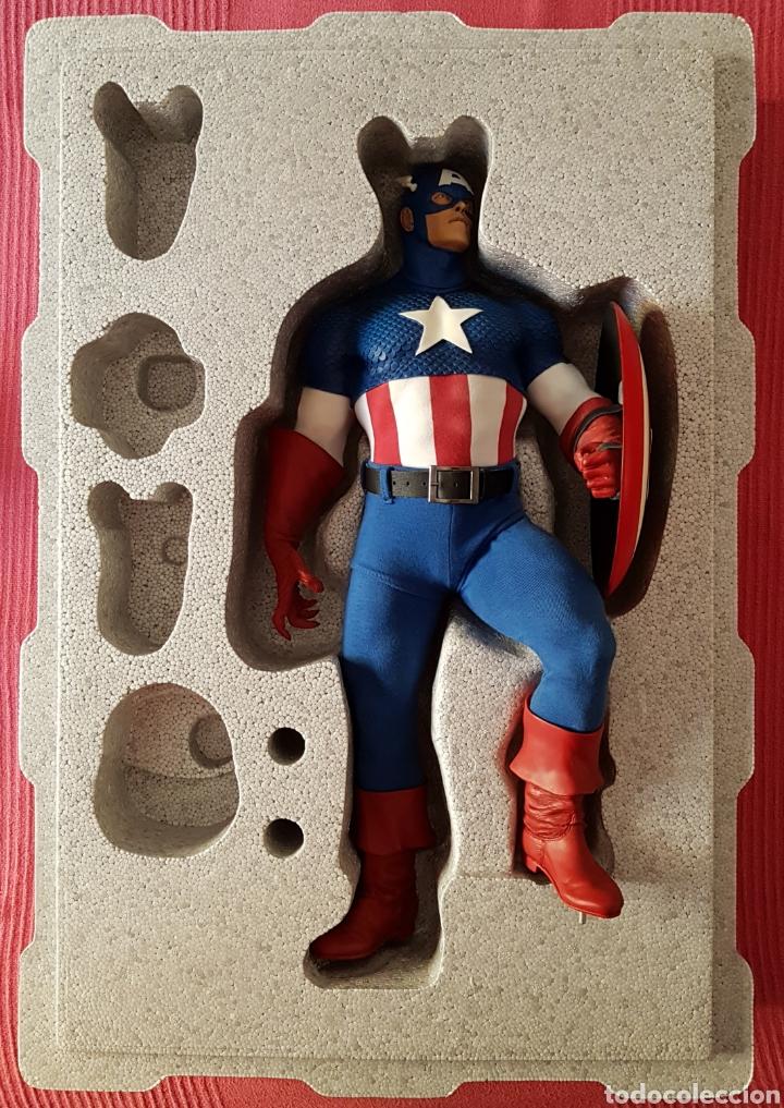 Figuras y Muñecos Marvel: Estatua Marvel del Capitan America Premium Format Figure sideshow. - Foto 13 - 181400146