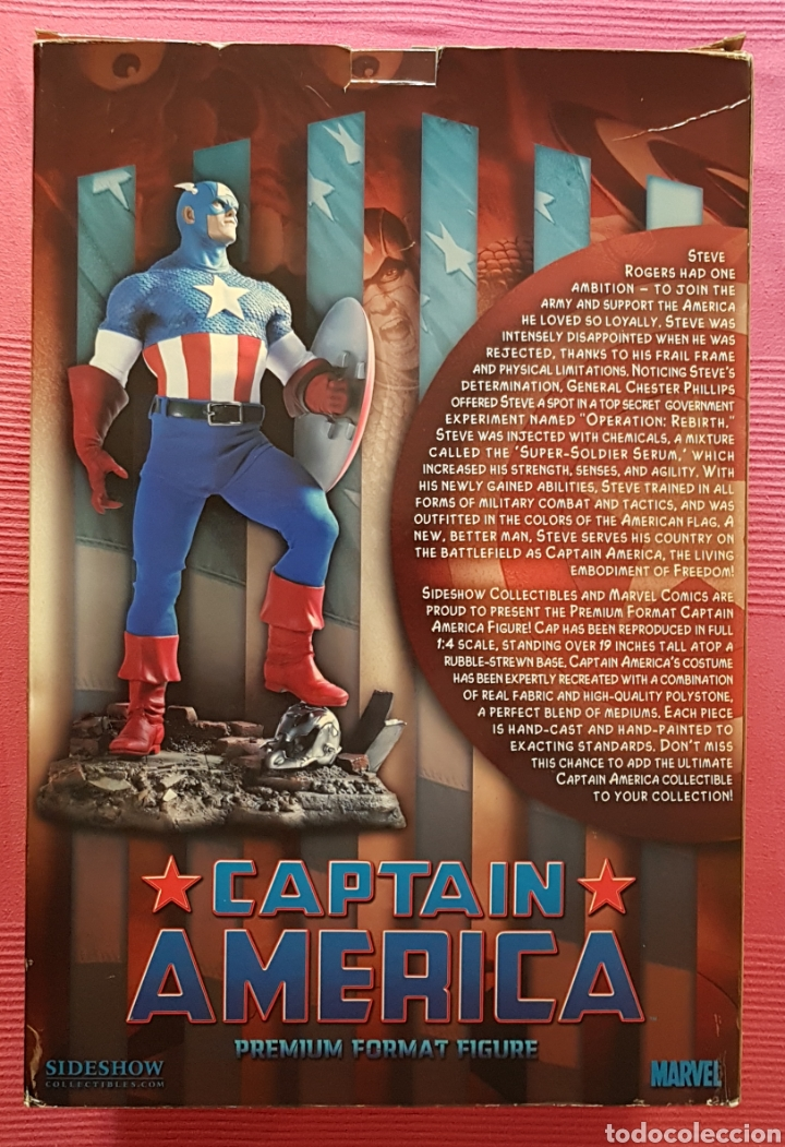 Figuras y Muñecos Marvel: Estatua Marvel del Capitan America Premium Format Figure sideshow. - Foto 16 - 181400146