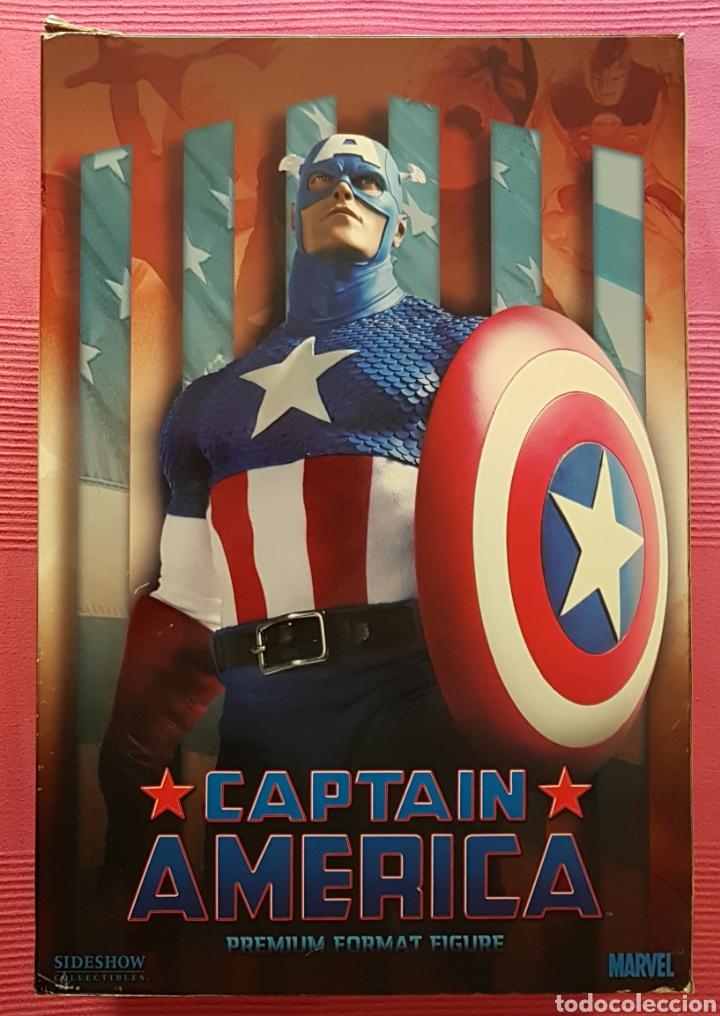 Figuras y Muñecos Marvel: Estatua Marvel del Capitan America Premium Format Figure sideshow. - Foto 17 - 181400146